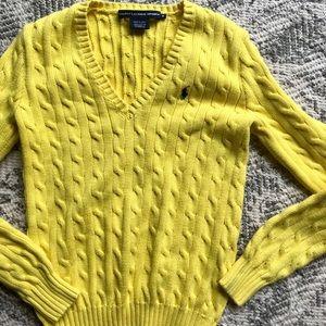 Ralph Lauren Sport Knit Yellow Sweater
